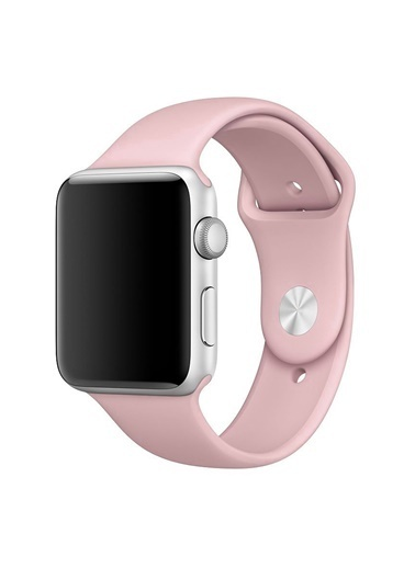 Microsonic Apple Watch Series 2 42mm Silikon Kordon Pembe Pembe